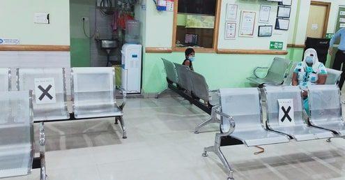 Eye-Q India Muzzafarnagar Covid19 safe waiting room