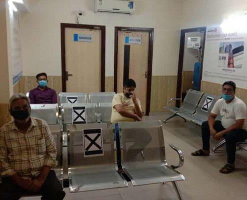 EYE-Q India Sadar Thana Saharanpur Covid Safe OPD Waiting Room